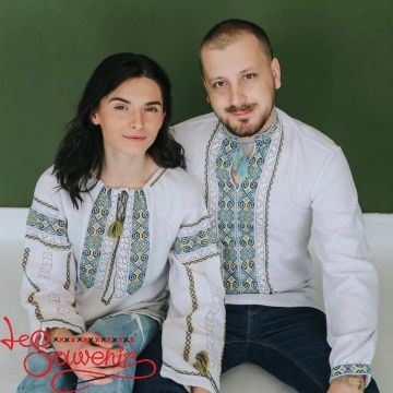 Duet of handmade embroidery EDV-1027