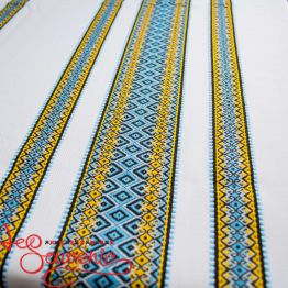 Вышитая скатерть сине-желтая EVS-1001