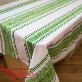 Embroidered Green Tablecloth EVS-1002
