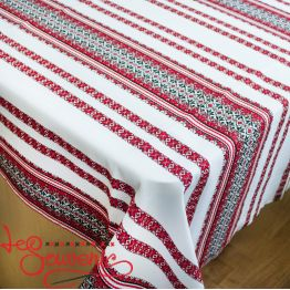 Embroidered Red Tablecloth EVS-1003