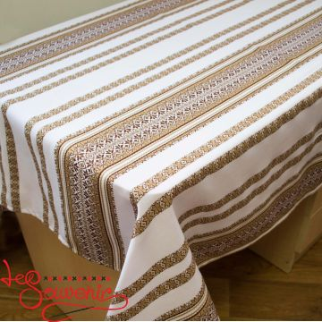 Embroidered Brown Tablecloth EVS-1004