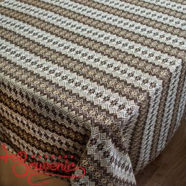 Embroidered Brown Tablecloth EVS-1005