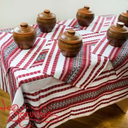 Embroidered Tablecloth with Napkins VS-1009