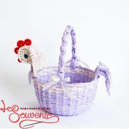 Кошик Курочка фіолетова SVK-1002