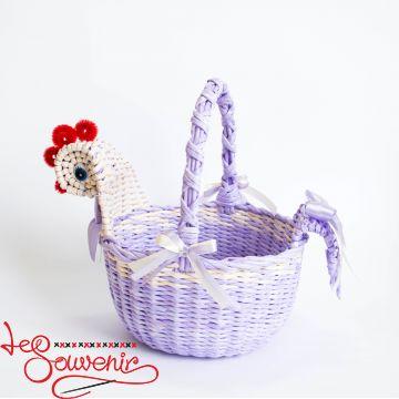 Корзина Курочка фиолетовая SVK-1002