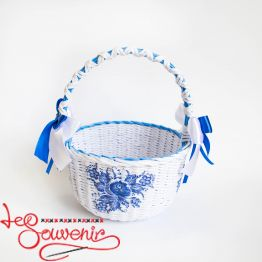 White and Blue Basket SVK-1019