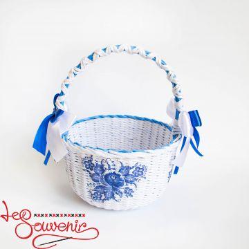 Кошик біло-синій SVK-1019
