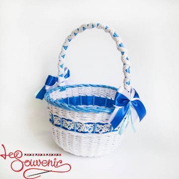 White and Blue Basket SVK-1020