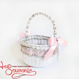 White and Pink Basket SVK-1021
