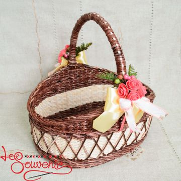Кошик плетений коричневий SVK-1034