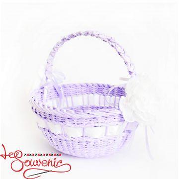 Корзина плетеная фиолетовая  SVK-1035