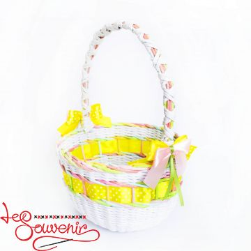 White Wicker Basket  SVK-1036