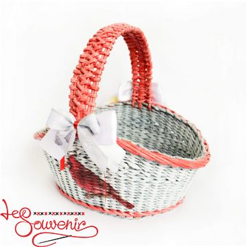 Gray-blue wicker basket SVK-1038