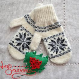 Women's Knitted Mittens ISV-1009