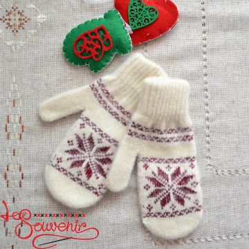Women's Knitted Mittens ISV-1012