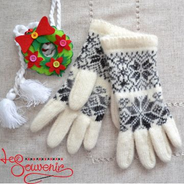 Women's Knitted Mittens ISV-1013