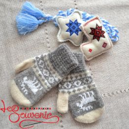 Children's Knitted Mittens ISV-1018