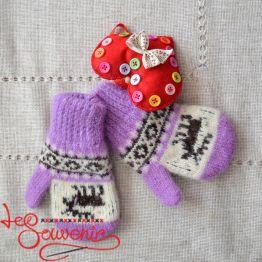 Children's Knitted Mittens ISV-1020