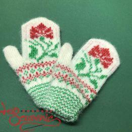 Children's Knitted Mittens ISV-1021