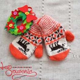 Children's Knitted Mittens ISV-1022
