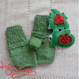 Вязаные перчатки без пальцев  ISV-1025