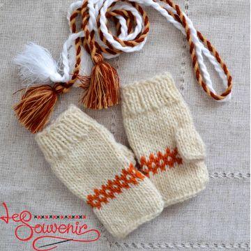 Вязаные перчатки без пальцев  ISV-1026