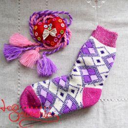 Жіночі в'язані шкарпетки ISV-1073