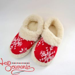 Slippers from Sheep's Wool ISV-1080