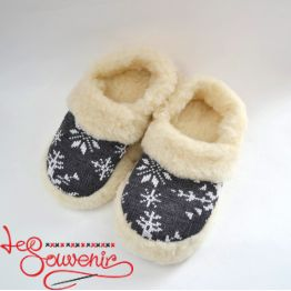 Slippers from Sheep's Wool ISV-1081
