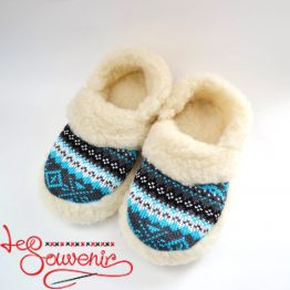 Slippers from Sheep's Wool ISV-1082