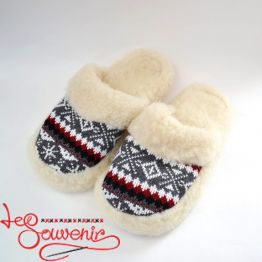 Slippers from Sheep's Wool ISV-1083