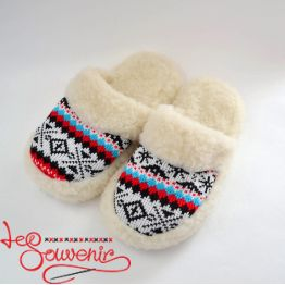 Slippers from Sheep's Wool ISV-1084