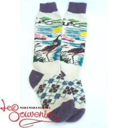 Women's Knitted High Socks ISV-1095