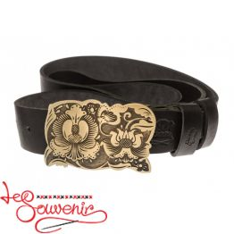 Leather Belt Poltava Embroidery IRM-1023