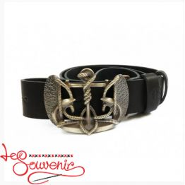 Leather Belt Trident Anchor IRM-1024