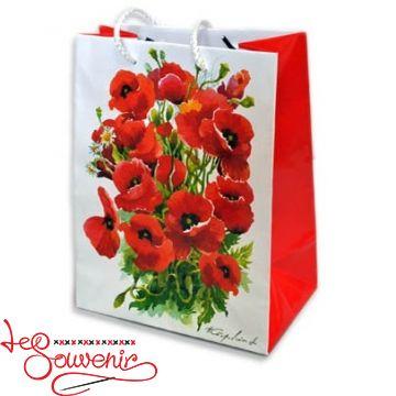 Пакет 32*26*10 Красные маки ISM-1026