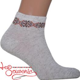 Men's Socks with Brown Embroidery CSH-1001