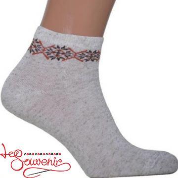 Чоловічі шкарпетки з коричневою вишивкою СSH-1001