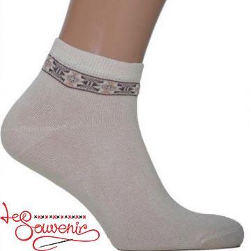 Чоловічі шкарпетки з коричневою вишивкою СSH-1002