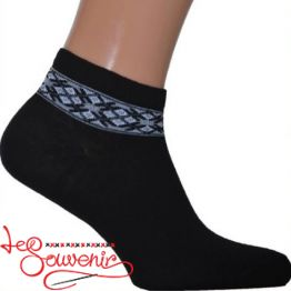 Men's Socks with Gray Embroidery CSH-1003