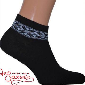 Мужские носки с серой вышивкой СSH-1003