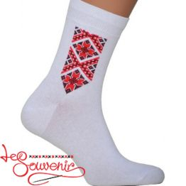 Men's Socks with Red Embroidery CSH-1004