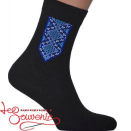 Men's Socks with Blue Embroidery CSH-1005