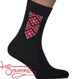 Men's Socks with Red Embroidery CSH-1006