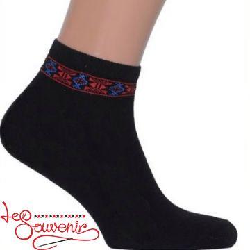 Чоловічі шкарпетки з червоно-синьою вишивкою СSH-1008