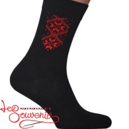 Мужские носки с красной вышивкой СSH-1009