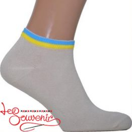 Men's Socks with Blue and Yellow Embroidery CSH-1010