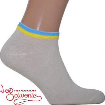 Чоловічі шкарпетки з синьо-жовтою вишивкою СSH-1010