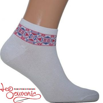 Men's Socks with Brown Embroidery CSH-1012