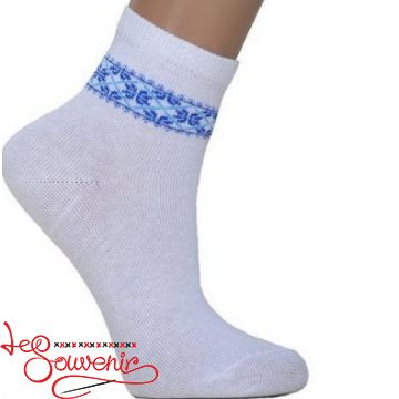 Children's socks with Blue Embroidery DSH-1001